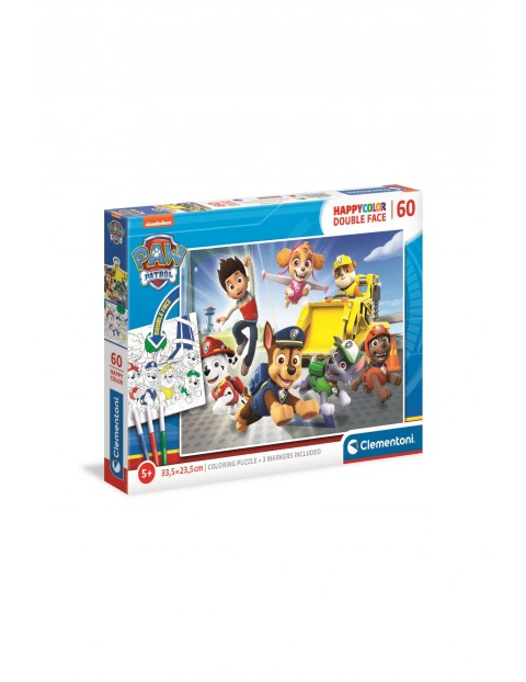 Puzzle happy color Psi Patrol - 60 elementów wiek 5+