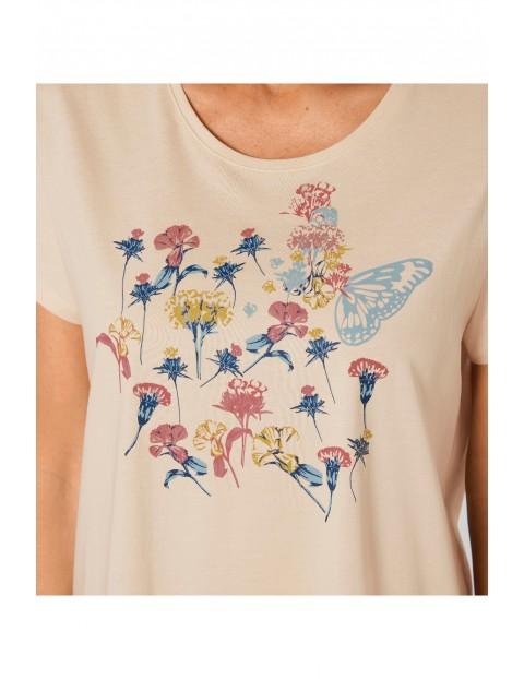 Kremowa koszula nocna Triumph kolekcja Lounge-Me Cotton