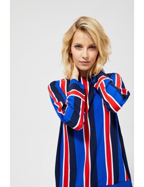 Wiskozowa bluzka damska w pionowe paski