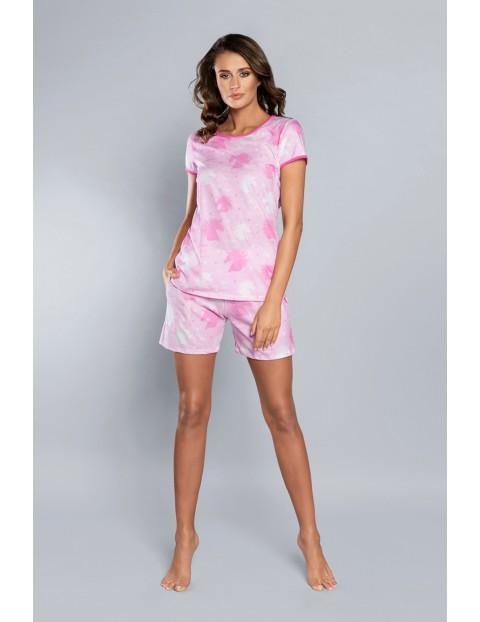 Dwuczęściowa piżama damska w kolorze różowym- Jednorożce