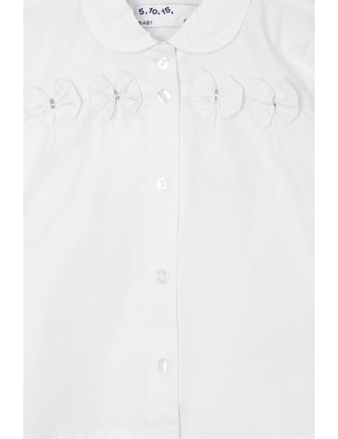 Koszula niemowlęca biała z kokardkami