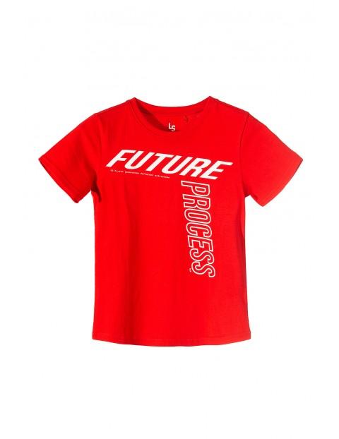 Koszulka chłopięca czerwona z białym napisem Future Process