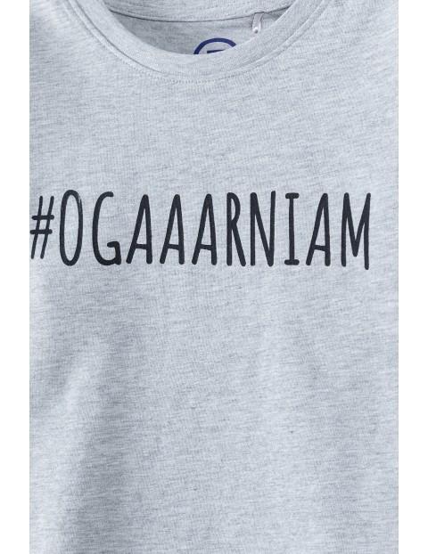 T-shirt chłopięcy z napisem- #Ogaaarniam