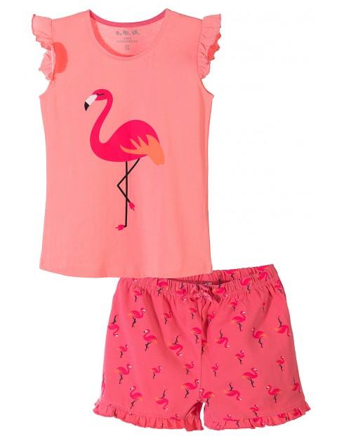 Piżama dziewczęca z flamingiem 3W3604