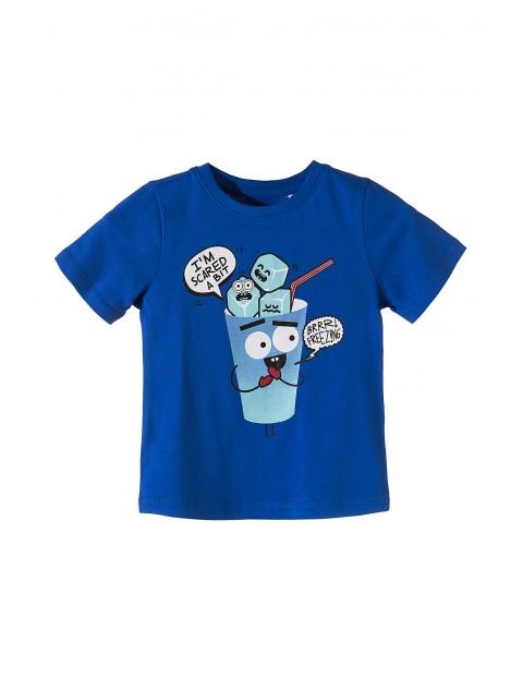 T-shirt dzianinowy dla chłopca 100% bawełna