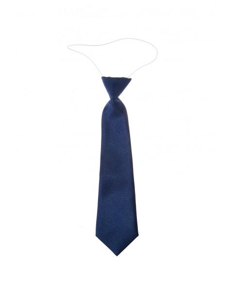 Krawat dla chłopca- granatowy