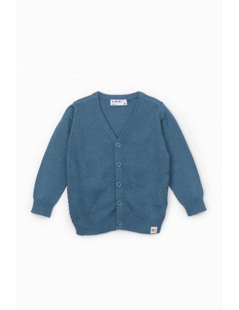 Sweter niemowlęcy rozpinany w kolorze niebieskim