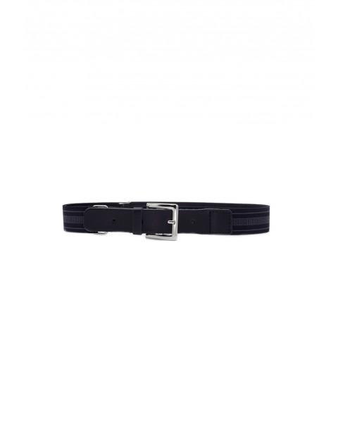Pasek chłopięcy 60cm - czarny z klamerką