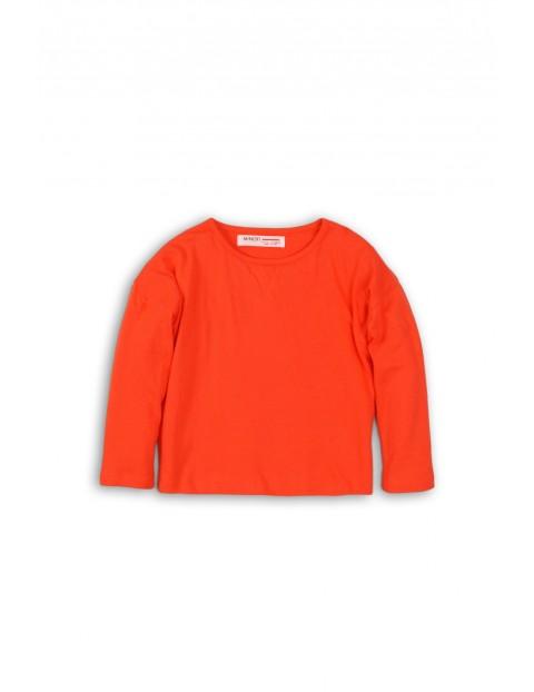 Bluzka dziewczęca pomarańczowa - długi rękaw