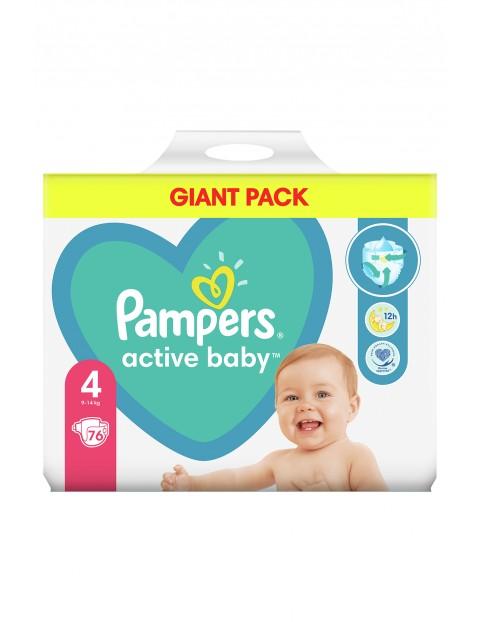 Pampers Active Baby, rozmiar4, 76pieluszek, 9 -14kg