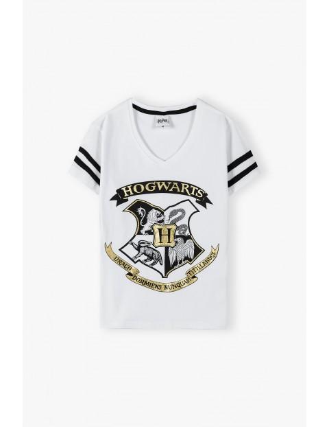 Bawełniany t-shirt damski Harry Potter - biały