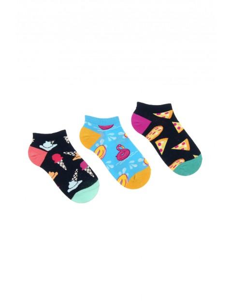 Stopki damskie w kolorowe wzory 3pak