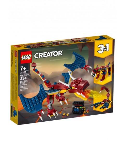 Lego Creator - Smok ognia - 234 elementy wiek 7+