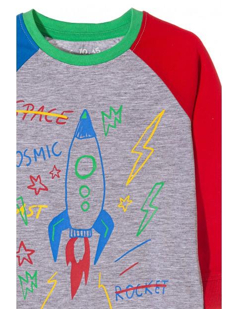 Piżama chłopięca z rakietą kosmiczną