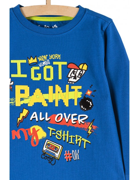 Niebieska bluzka dla chłopca z aplikacją 3D