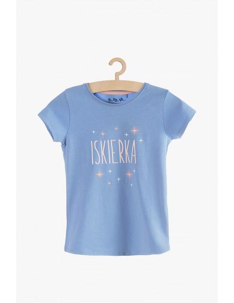 Niebieski t-shirt dla dziewczynki- Iskierka