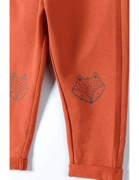 Bawełniane niemowlęce spodnie dresowe z łatkami