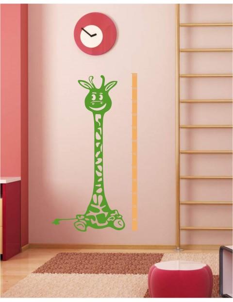 Naklejka welurowa Żyrafa miarka