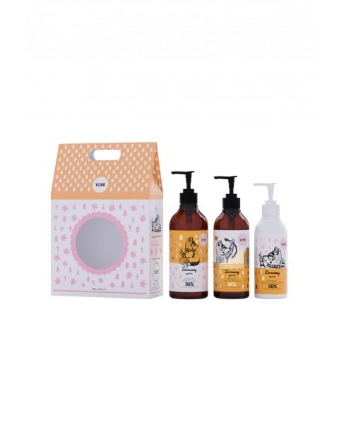 Zestaw kosmetyków - Zimowy Poncz mydło,  żel 400 ml i balsam
