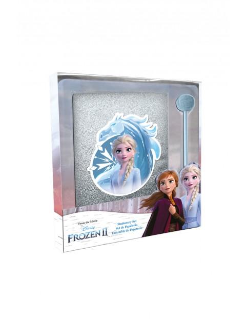 Pamiętnik brokatowy i długopis z motywem Frozen
