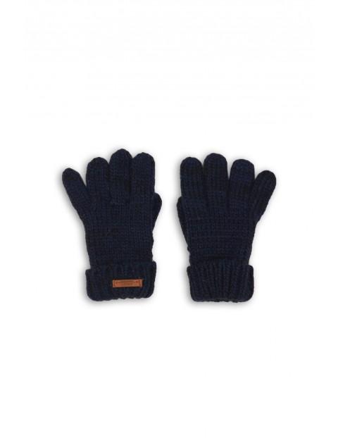 Rękawiczki chłopięce granatowe