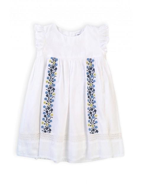 Bawełniana sukienka niemowlęca z kwiecistym wzorem