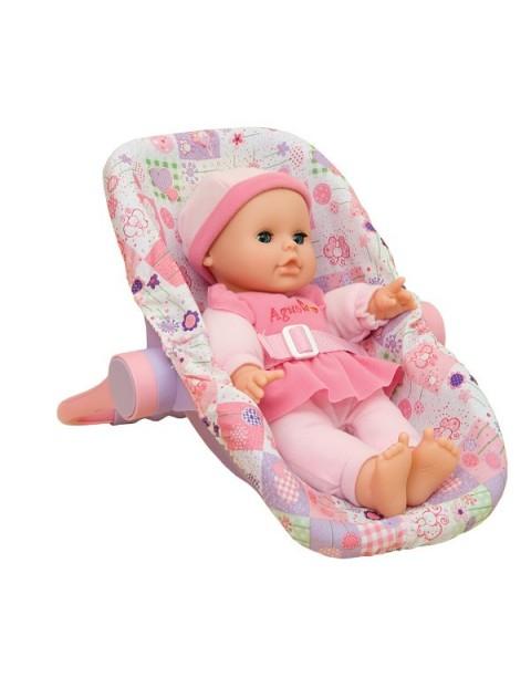 Lalka 29 cm z fotelikiem