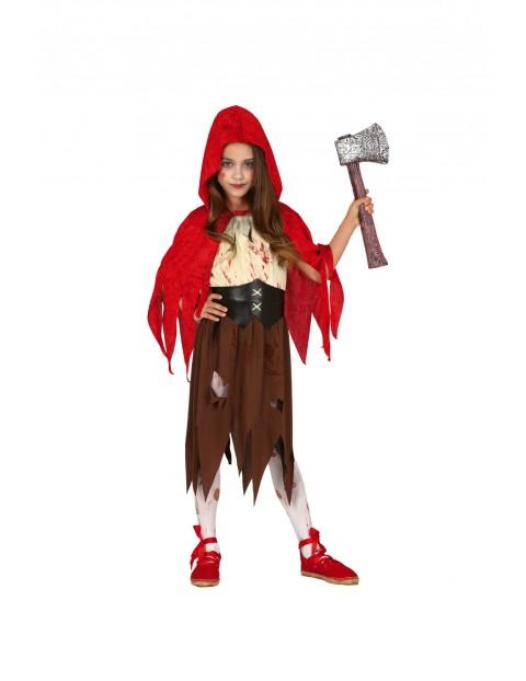 Strój karnawałowy dziewczęcy Czerwony Kapturek