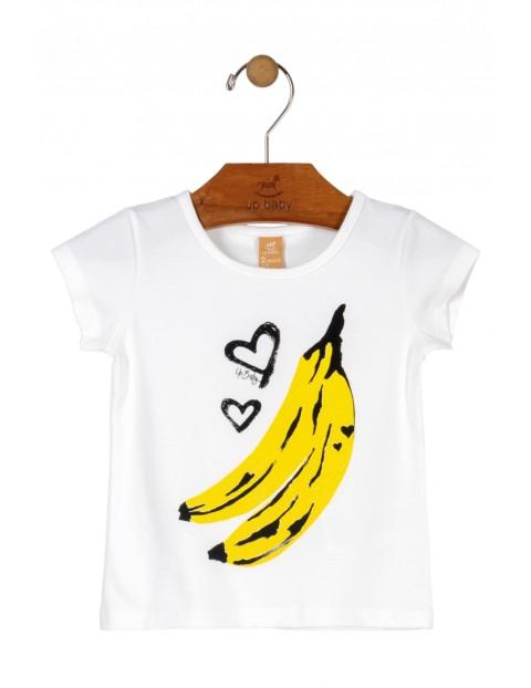 T-Shirt niemowlęcy biały z bananami