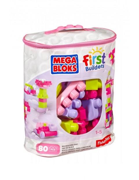 Kloci- Mega Bloks First Builders- Duża ECO torba 80 szt wiek 12msc+