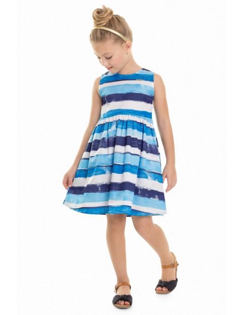 Sukienka dziewczęca niebieska w paski