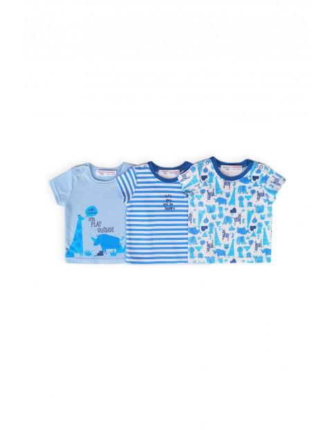 T-shirty niemowlęce z bawełny - 3 pak