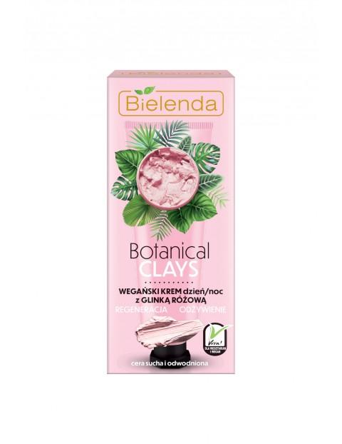 Bielenda BOTANICAL CLAYS Wegański krem z glinką różową dzień/ noc 50 ml