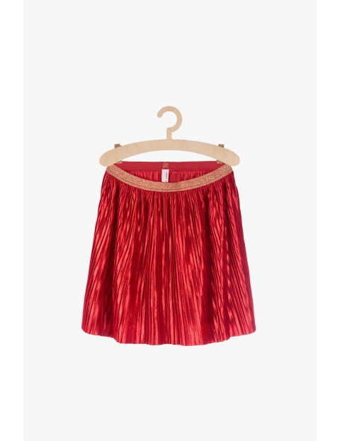 Spódnica plisowana- czerwona