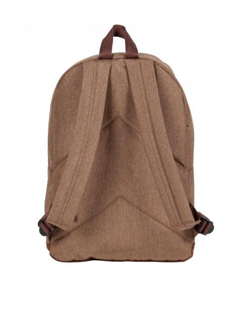 Plecak młodzieżowy brązowy