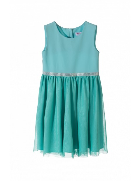 Sukienka na specjalne okazje dla dziewczynki-zielona