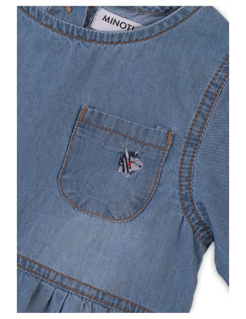 Sukienka dziewczęca jeansowa z kieszonką