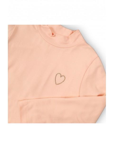 Bluzka dziewczęca różowa z serduszkiem