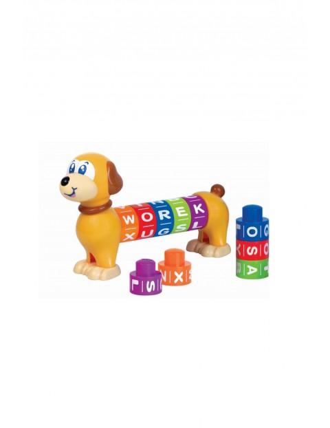 Literkowy Piesek- zabawka edukacyjna 12msc+