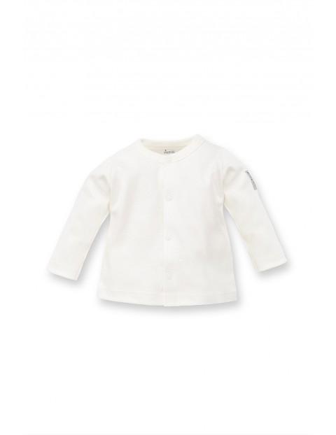 Kaftanik niemowlęcy biały bawełniany