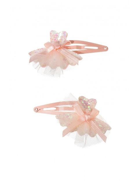 Spinki do włosów różowe 2pak