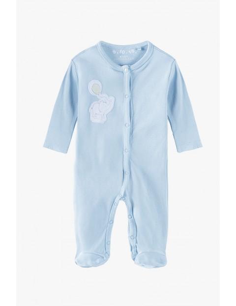 Pajac niemowlęcy bawełniany niebieski