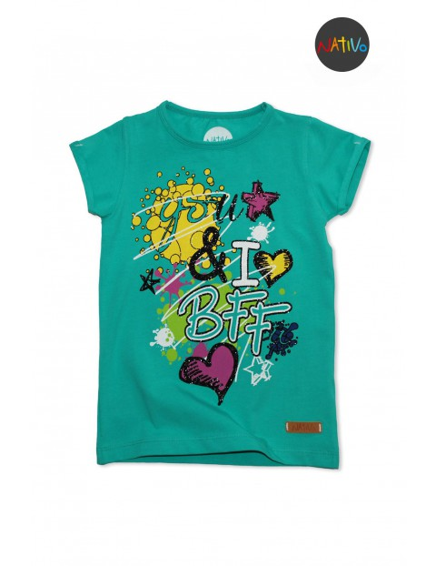 T-shirt dziewczęcy 3I30AD