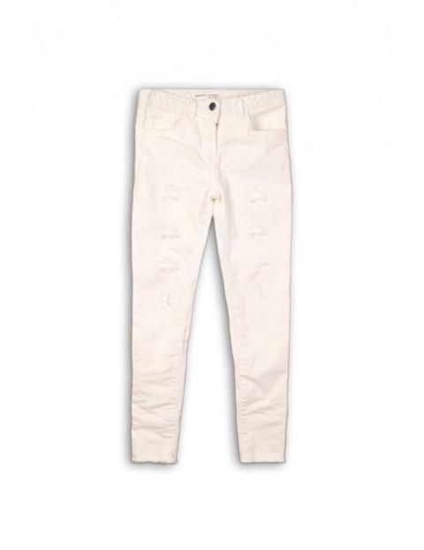 Spodnie dziewczęce rurki- białe