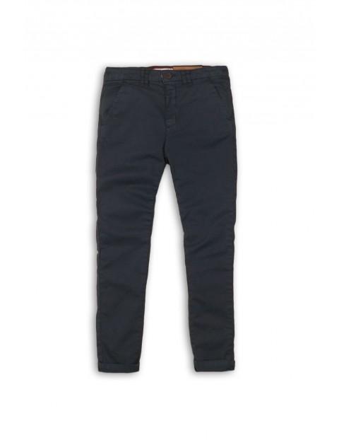 Spodnie chłopięce chinosy - granatowe