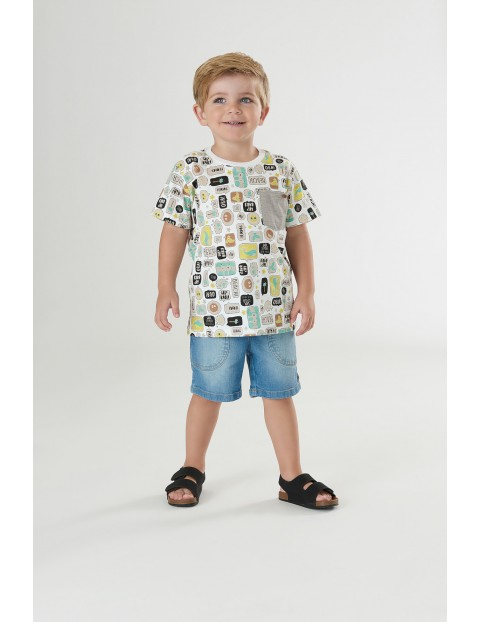 Koszulka niemowlęca we wzorki - biały