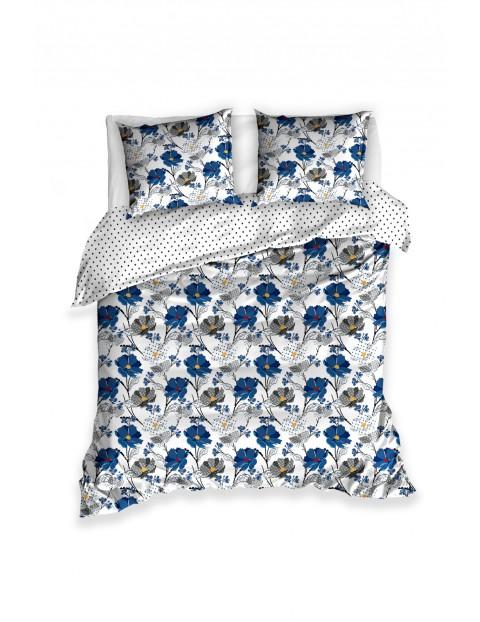 Komplet pościeli bawełnianej w kwiaty 220x200+2x70x80 cm