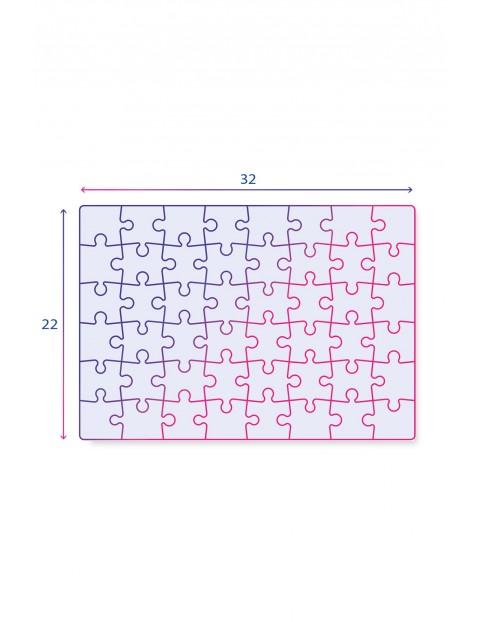 Puzzle  Super Color Jurassic World - 3 x 48 elementów wiek 4+