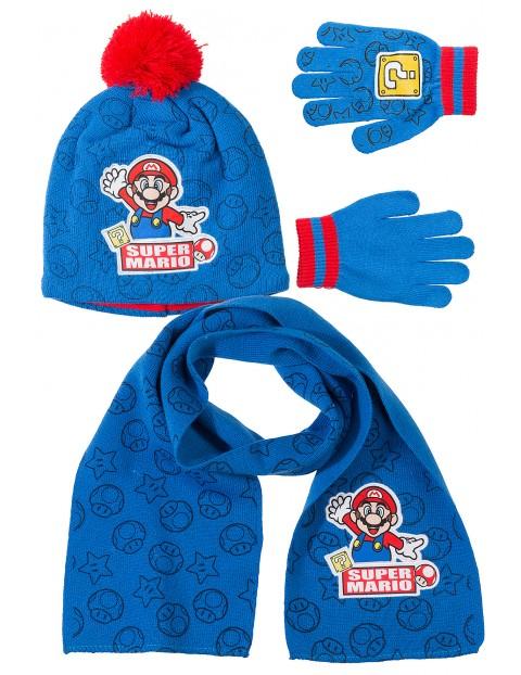 Czapka + rękawiczki + szal Mario1X35AI