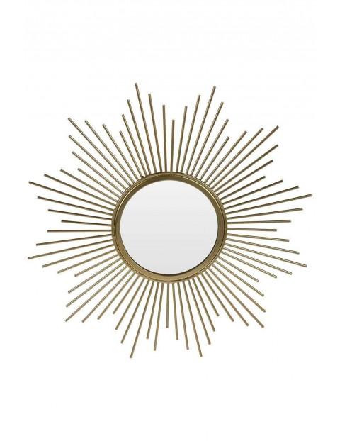 Lustro dekoracyjne w złotej ramie